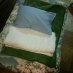 指定の布団交換日になったら布団を畳んで置いておこう。帰るとフカフカ布団に変わってるよ!