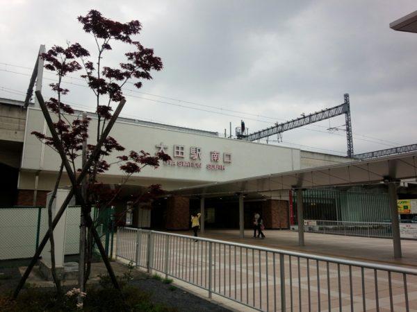 太田市駅前に到着。スバル期間工赴任初日。