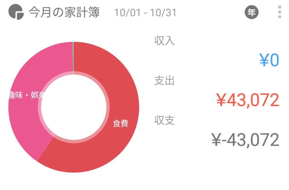 2016年10月支出総額