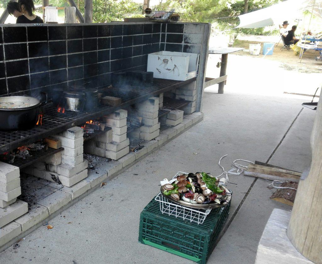 金山の森キャンプ場炊事場所