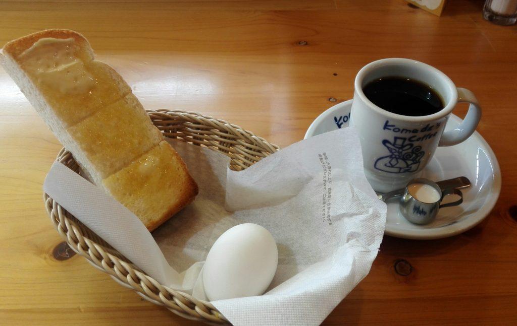 コメダ珈琲のモーニングトーストセット